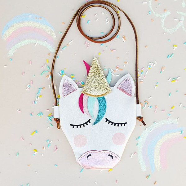Cheap 2019 NEW Kids Girl Unicorn Shoulder Bags Baby Woman Lovely Cute Coins Keys Bag Purse School handbags For Party Gift