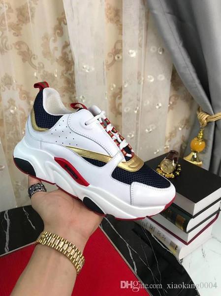 2019 yeni yüksek kaliteli B2 erkek tuval Dana derisi moda bayan ayakkabı Fransız tasarımcı marka ayakkabı 35-45 xv02