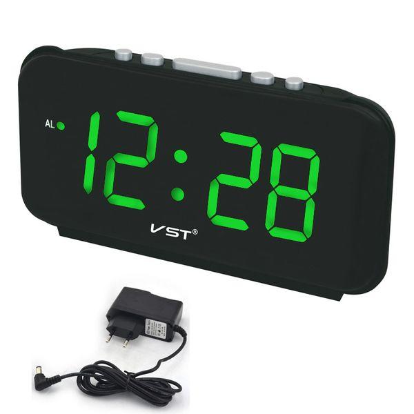 Alarm Big numbers Digital Alarm Clocks EU Plug AC power Electronic Table Clocks With 1.8 Large LED Display home decor
