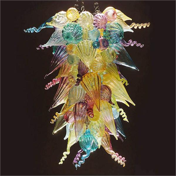 Phantasie mundgeblasenem Glas Kronleuchter LED Leuchte Restaurant dekorative Kunst Dekor New Trending LED Pendelleuchte