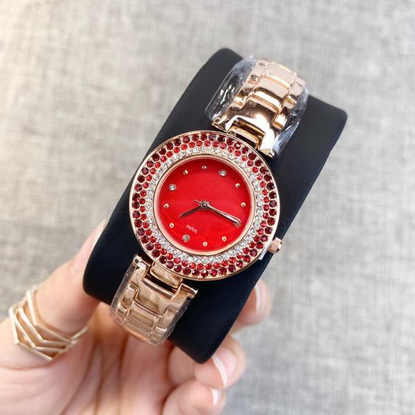 2019 Nouveau Modèle bon Mode Femmes De Luxe Montre Avec Diamant Relojes De Marca Mujer Lady Montre Montre Marque Strass Quartz drop shipping