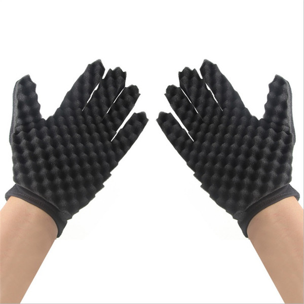 Sponge Black Home Soft Gloves Simple Convenient Reusable Practical Light Weight Hot Sale Curly Hair Hairdressing Tool 3 5dyD1