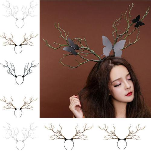 2019 Vintage Tree Branches Christmas Headband Props Horns Hairband Hair Accessory Xmas Cosplay Headpieces New