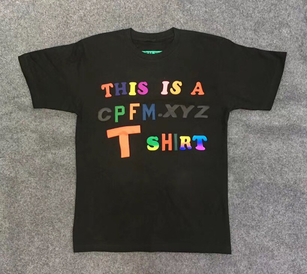 CPFM Sunday Service Holy Spirit T Shirt Hombres Mujeres Hip Hop Algodón Camiseta Casual Kanye West Heart Print Camisetas