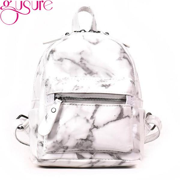 Gusure Marble Pattern Backpack Women Daypacks Bag For Teenage Girls Boys School Shoulder Bag Black White Pack mochilas mujer