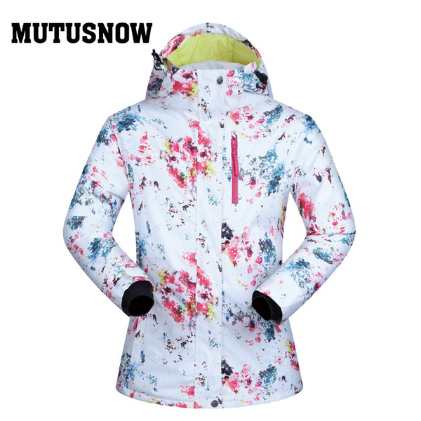 MUTUSNOW Ski Jackets Women Brands High Quality Winter Windproof Waterproof Warmth Snow Skiing Sportswear Camping Winter Snowboard Jacket