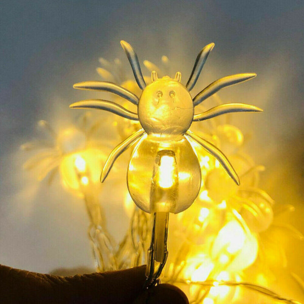 Smuxi 주도 나이트 라이트 2M (20) LED 할로윈 스파이더 문자열 조명 LED 요정 조명 분위기 Lampfor 축제 파티 바 장식