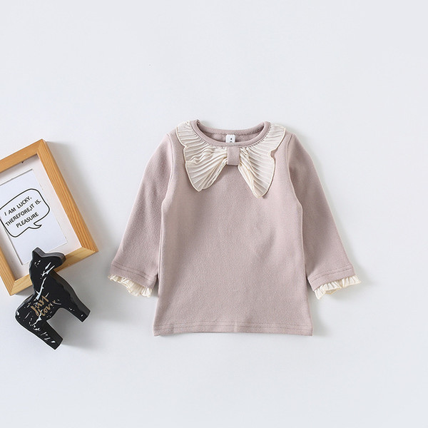 Baby Girls Clothing Spring Autumn Girls Top Shirts Cute Big Bow Collar Long Sleeve Baby Girl Shirts Princess Kids Girl Clothes