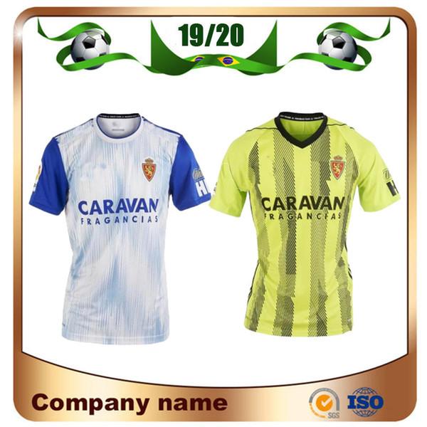 2019 Real Zaragoza # 23 SHINJI KAGAWA Camisa de Futebol 19/20 Casa branca 21 Camisa de Futebol ZAPATER VAZQUEZ POMBO Zaragoza Borja Uniforme de Futebol