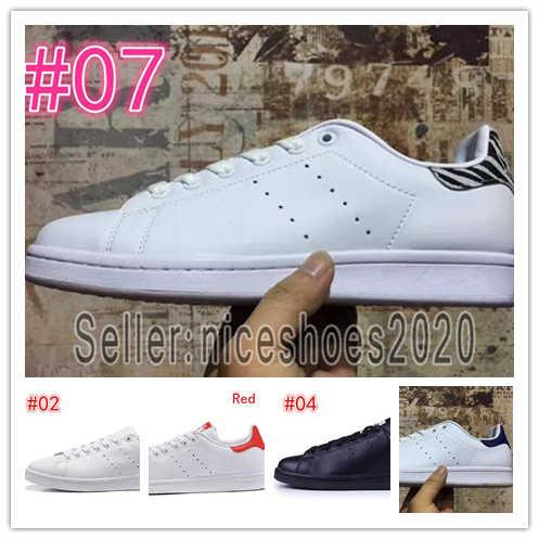 Fashion luxury designer stan men women Leather sneakers Best Quality White Balck Blue Smith Casual shoes Cheap Trainers Shoes 5-11