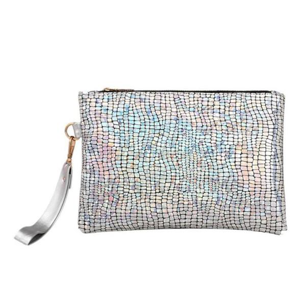 Cheap Women Beautiful Handbag Female Handbags Colorful Sequins Bags Ladies Zipper Luxury Handbags Sparkles &410