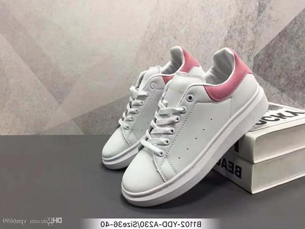 2019 Designer De Luxe Hommes Femmes Baskets Pas Cher Meilleure Qualité Supérieure Mode Blanc Plate-Forme En Cuir Chaussures Plate Parti Casual Chaussures De Mariage