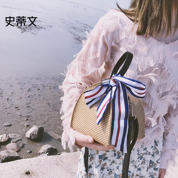 2019 Luxury Straw Bag Rattan Beach Crossbody Bags For Women Handbags Women Shoulder Bag Messenger Bolsa Feminina Bolsa De Palha