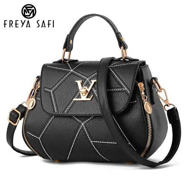 Flap V Brand Womens Bag Luxury Leathe Handbags Shell Thread Ladies Clutch Designer Bag Sac A Main Femme Bolsas Women'stote Purse J190614