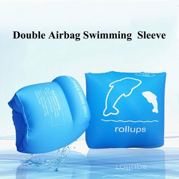 Natación flotador brazo círculo redondo inflable flotador natación mangas niño seguridad brazo anillo accesorios