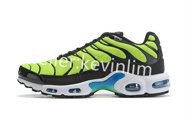 Acquista Nike TN Plus Air Max Airmax 2019 Scarpe New Air Plus Uomo Design Air Tn Qs Scarpe Sportive 2019 Tn Requin Maglia Traspirante Nero White