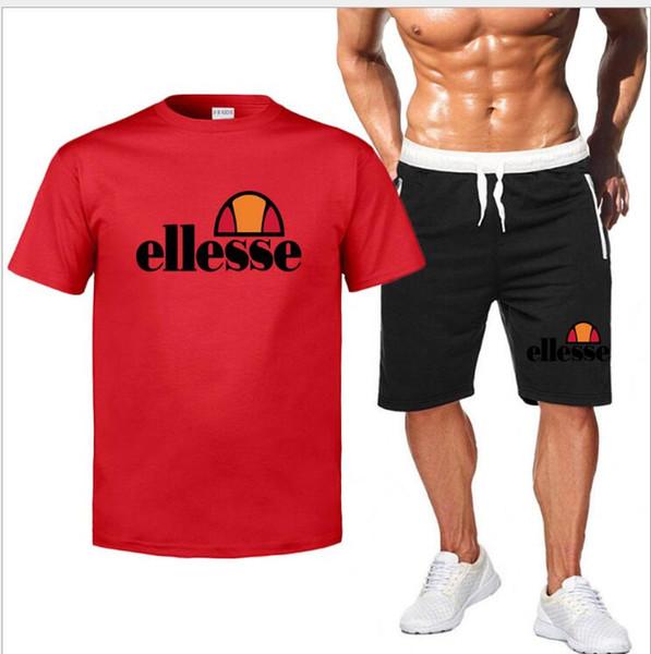 Hommes Ensemble Casual 2019 D'été Solide Slim Fit Survêtement Mens Polos + Shorts 2 PC Ensembles New Jersey Fitness Combinaison Respirant