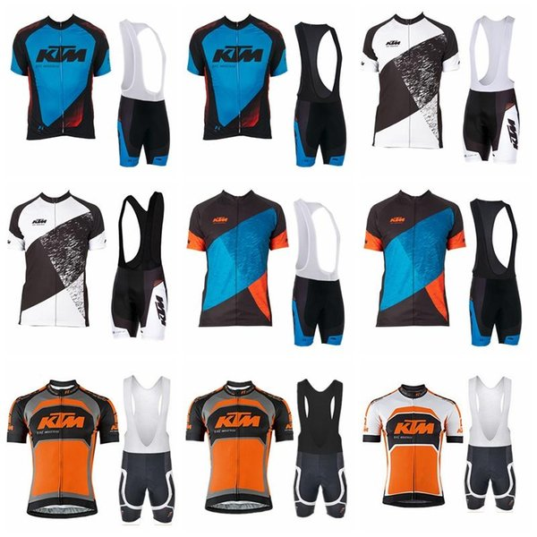 2019 KTM team cyclisme manches courtes maillot BIKE cuissards ensembles Sport Bike Wear Outdoor Route Vélo Vêtements K122425