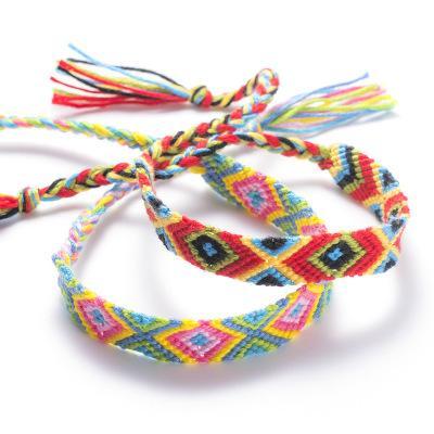 Incroyable Tissé Bracelets D'amitié À La Main DIY Népal Tressé Bracelets Pour Femmes Fille Poignet Cheville Réglable Amitié Bracelets M569Y