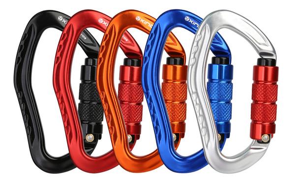 22KN Outdoor Rock Climbing Safety Harness Belt Lanyard Carabiner Hook Gear