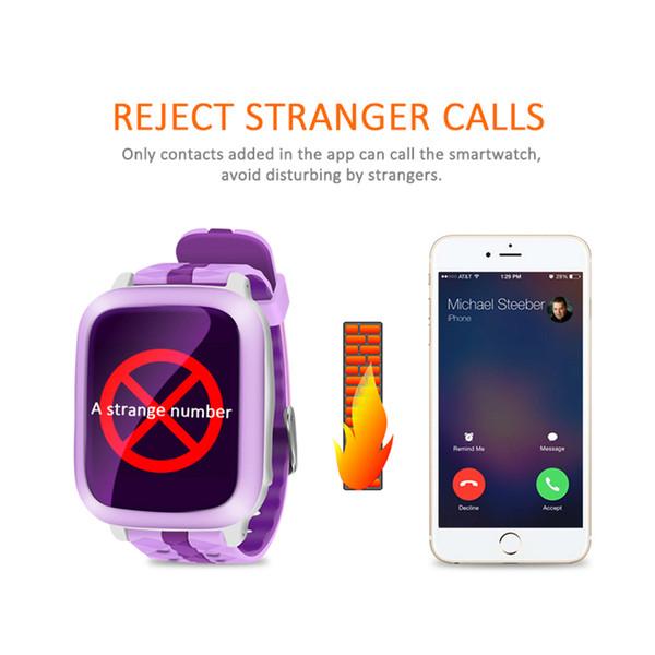 SCOMAS DS18 Waterproof Tracker Kids Smart Watch with GPS Micro SIM Card Anti-lost SOS Monitor Smart Bracelet Watch for Children