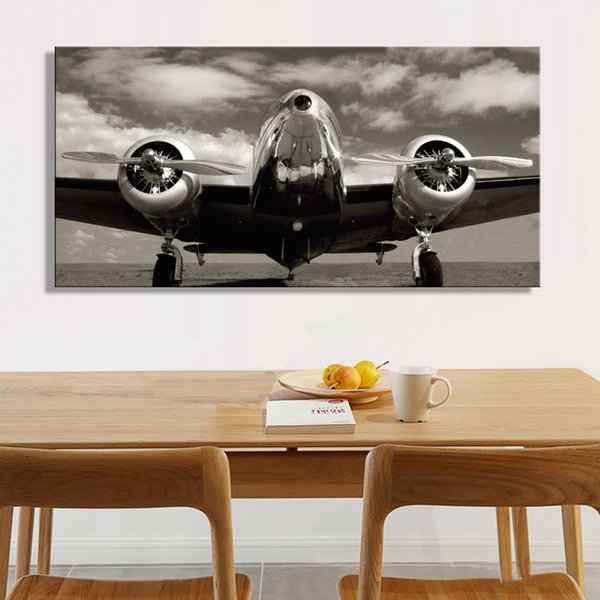 1 Pcs Posters and Prints on Canvas Wall Art Canvas Painting Classic Vintage Airplane Pictures Home Decoration for Living Room No Framed