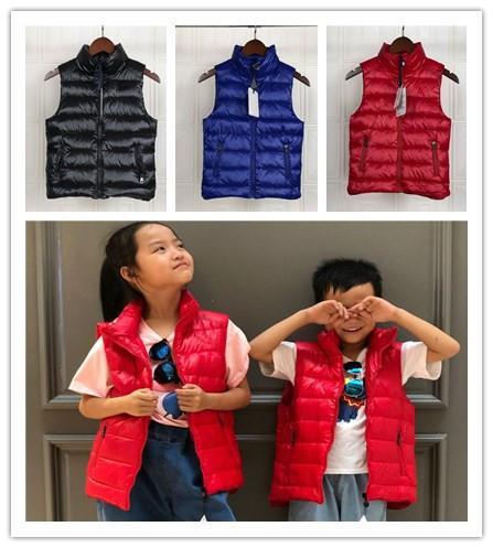 gilet de designer pour enfants manteaux d'hiver imperméable coupe-vent moncle vestes garçons filles à la mode noir bleu rouge duvet manteaux survêtement enfant vers le bas gilets