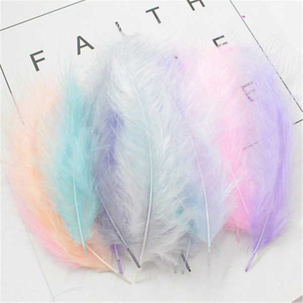 50 PCS 4-6 Inches 10-15CM Turkey Marabou Feathers Fluffy Wedding Dress DIY Jewelry Decoration decorative Accessories Feathers