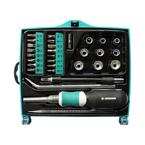 8127-B-29pcs6150 Kit d'outils de maintenance pour réparation de tournevis manuel multifonctionnel pour outils de réparation pour ordinateurs portables