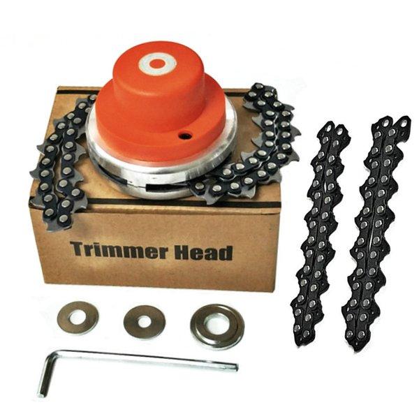 top popular FNICEL Universal Trimmer Head Chain Brushcutter Garden Grass Trimmer with Thickening Chain for Lawn Mower Garden Tools Part 2021
