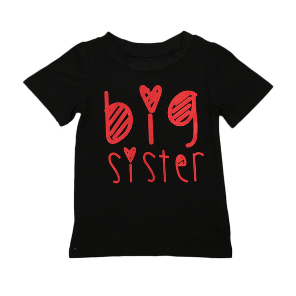 Children T-Shirts Boys Girls Casual Tee Kids Big Brother and Sister Cartoon T shirts Tops clothes 2-7Y Children T-Shirts Boys Girls Casual Tee Kids Big Brother and Sister Cartoon T shirts Tops clothes 2-7Y