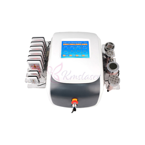 High Quality 40K Ultrasonic Cavitation Vacuum Bipolar RF Face Skin Tighten Lipolaser Lipo Laser Fat Burning Weight Loss Slimming Machine