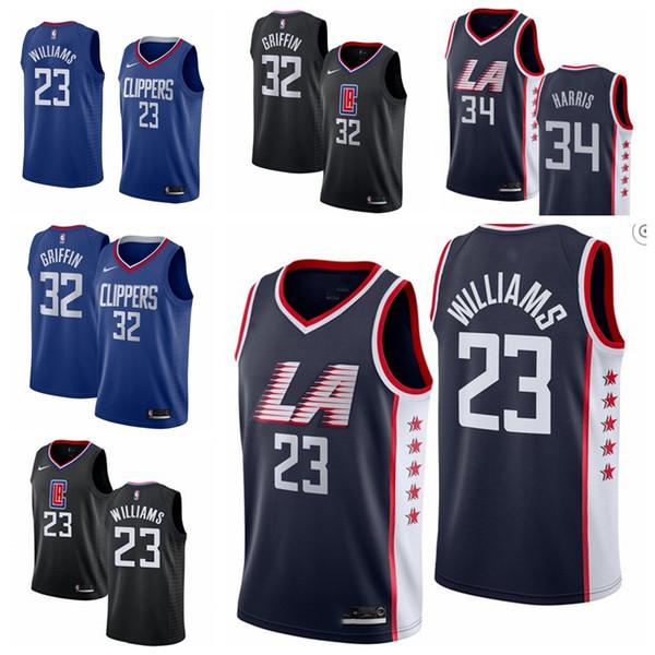 f89bb40f 23 Lou Williams LA Men's Clippers Fanatics Branded Fast Break Basketball Jersey  Royal Icon Edition