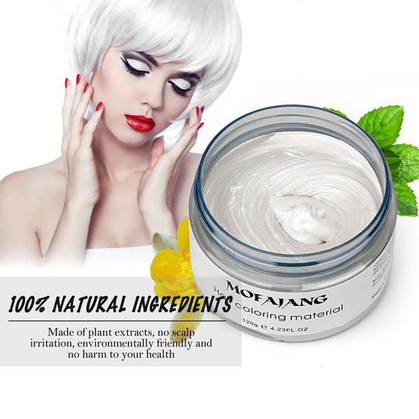 2019 Hottest волос Окрашивание Mateial 100% Натуральные ингредиенты для волос Воск для укладки волос Воск Большой Скелет Slicked 8 цветов Бесплатная доставка