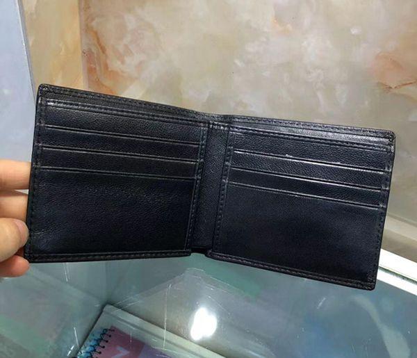 Heißer verkauf hohe qualität modedesigner bi-fach kartenhalter handgewebten weichen echtem leder marke herren brieftasche schwarz blau kaffee geschenkbox