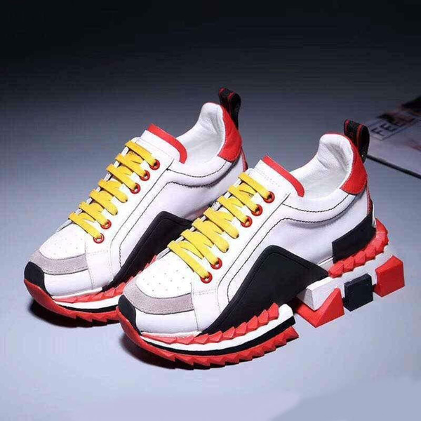 2019 High-TOP inferiore rossa Super King Sneakers multicolore Sorrento Sneakers per le donne e gli uomini sulla scarpe firmate Go con Box V1 V1