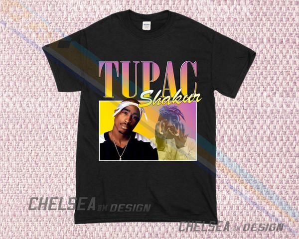 Inspiriert von Shakur T-Shirt Merch Tour Limited Vintage-Rare 2019 Unisex-T-Stück
