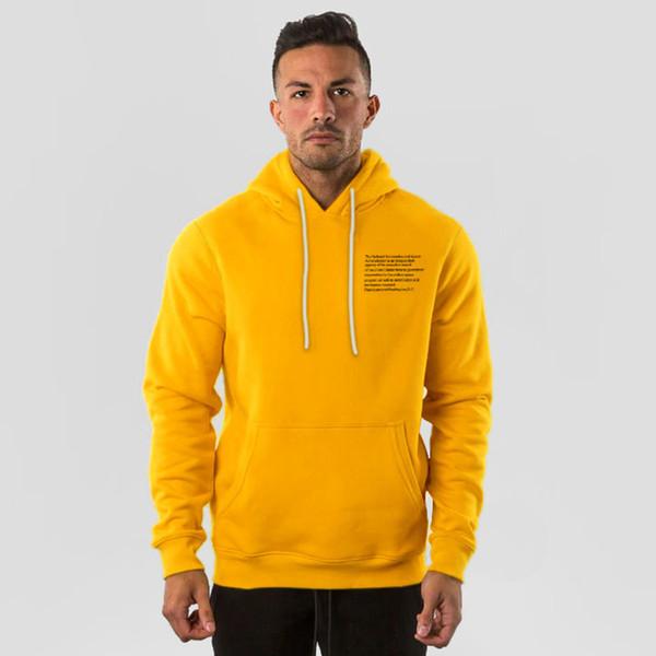 2019 hombres a estrenar color sólido sudaderas manera ocasional de la chaqueta de gimnasios Hodded masculino de algodón con capucha de deporte Ropa