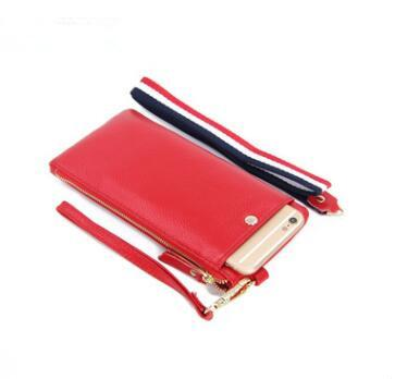 2019 Fashion long Purse genuine Leather wallet female brand card holders cell phone pocket gifts for women money bag clutch