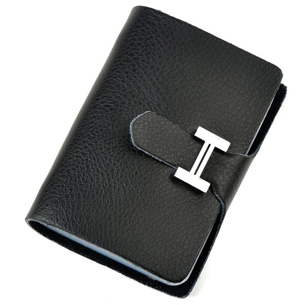 Charm2019 Genuine Buckle H Leather Bank Gift Cowhide Male Ma'am Credit Package Card Set Doka Position