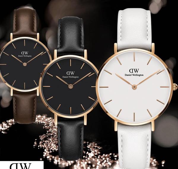New fashion dw girl ladies quartz Daniel Wellington watch leather strap simple luxury trend 32mm Relogio Montre Femme Wrist