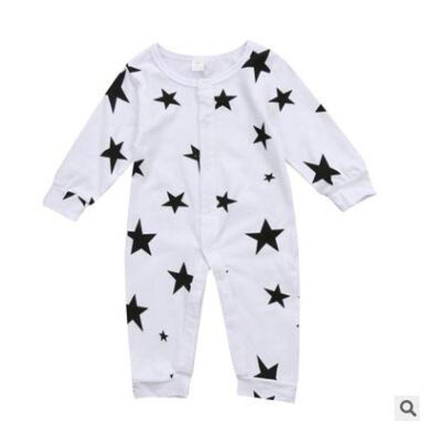 Neugeborene Strampelanzug 2019 Neue Baby Boy Girl 100% Baumwolle Langarm Strampler Overall Body Sterne Kleidung Outfits Baby Kleidung