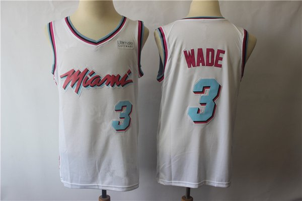 reputable site 832b8 09bd6 2019 Miami Vice City Earned Edition Dwyane Wade Jersey 3 Heat Basketball  Goran Dragic 7 Hassan Whiteside Jerseys 21 Short Red Black White From ...