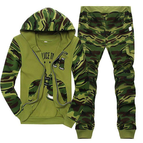 Мальчики Камуфляж с капюшоном наборами для малышей мальчиков Спорта Толстовка Детских дизайнерских одежды Мальчики Осень Письмо Повседневных Комплекты из трех частей костюмов 06