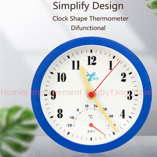 Difunctional Wall Clock with Thermometer/Temperature meter Simple Design Silence Clock Kids Living Study Room Home Decoration Birthday Gift