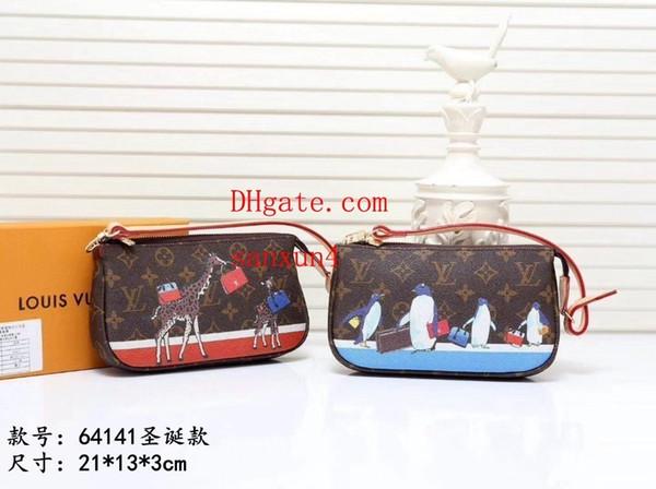 2019 women handbag fashion handbags giraffe, polar bear, penguin-style prints, versatile space, wraparound zipper travel bag sac a main