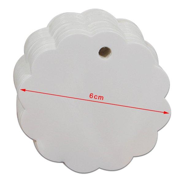 Cerchio di pizzo bianco 6cm