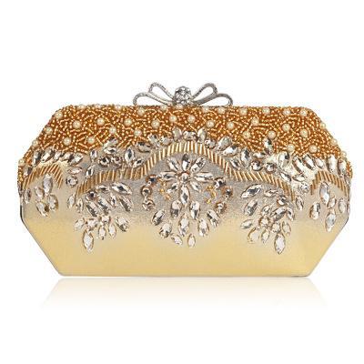 new Ladies Bag Heavy Industry Diamond Beaded Embroidery Dinner Bag Luxury High-end Handmade Beaded Handbag Handbag Bridal Bag