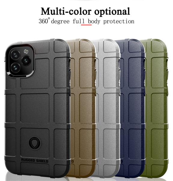 Para iPhone 6 6s 7 8 Plus XR X XS MAX 11 Pro Max ultra-fina de sílica gel à prova de choque tampa traseira do caso