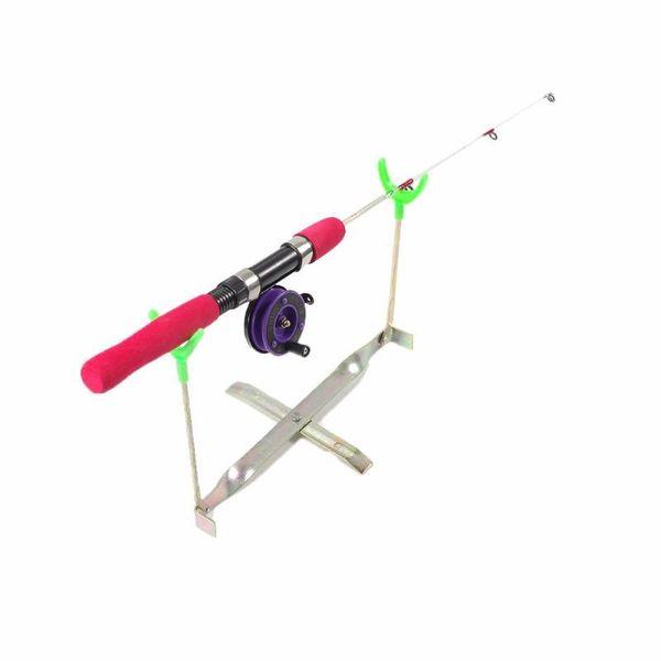 Adjustable Dual Head Foldable Carp Ice Fishing Rod Pod Stand Holder Fishing Pole Pod Stand Rack Bracket Support Rod Holder